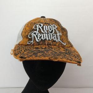 Rock Revival Acid Orange Trucker Hat Cap